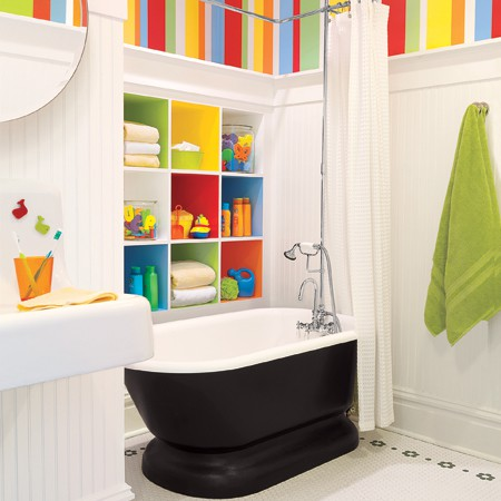 Cute And Colorful Kids Bathroom