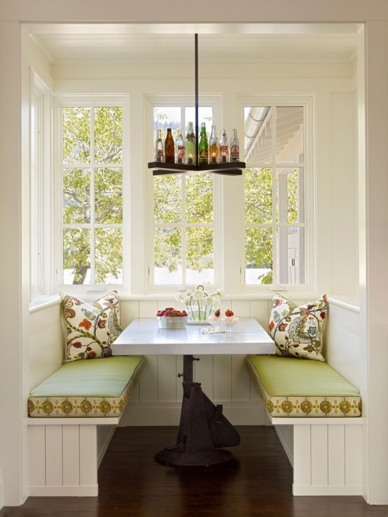 cute and cozy breakfast nook decor ideas - Breakfast Nook Ideas
