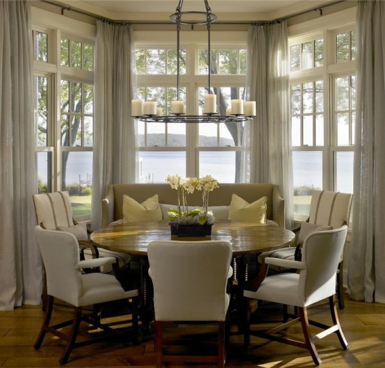 Kitchen With Bay Window Layout: 40 Cute And Cozy Breakfast Nook Décor Ideas