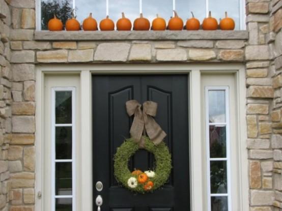 Inviting fall front door