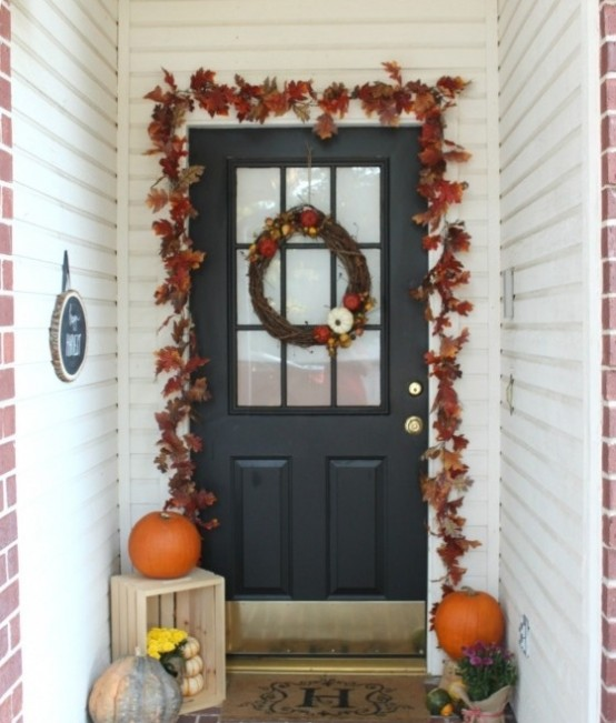 Autumn leaves could be used for decorating as indoors as outdoors.