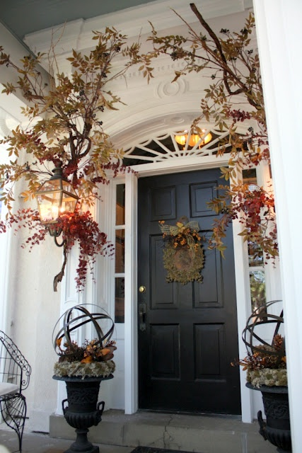 67 Cute And Inviting Fall Front Door D 233 Cor Ideas Digsdigs