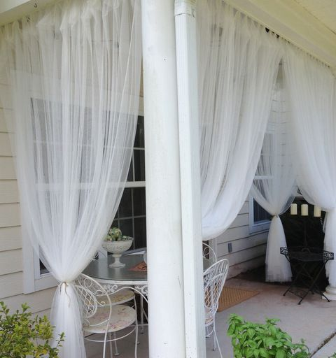 mosquito net curtains you may cover your space with -  avoid any bugs using them