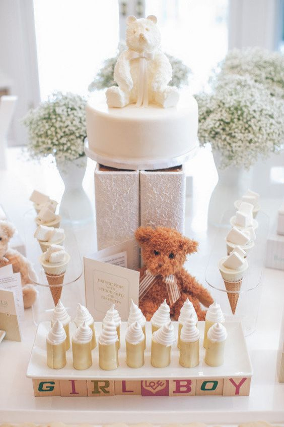 Cute Baby Shower Dessert Table Décor Ideas