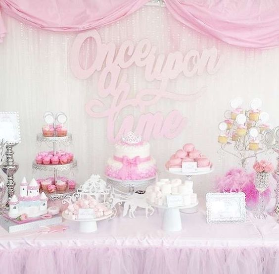 31 cute baby shower dessert table d cor ideas digsdigs Baby shower table setting