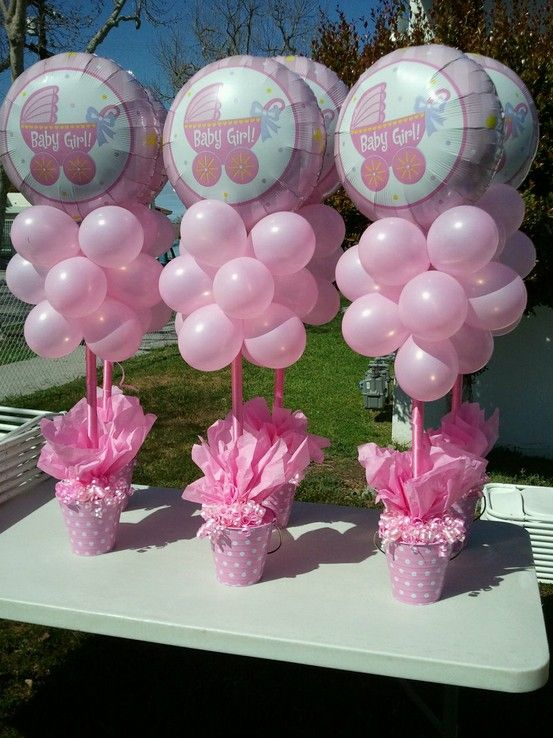 Picture of cute balloon decor ideas for baby showers 15 for Baby shower decoration ideas for girl