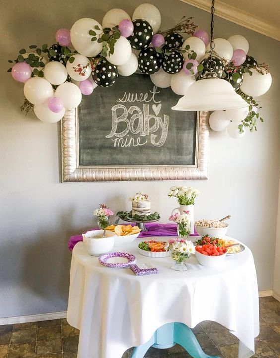 Picture Of cute balloon decor ideas for baby showers  25