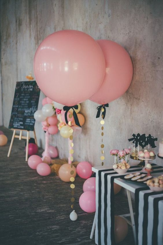 Picture Of cute balloon decor ideas for baby showers  27