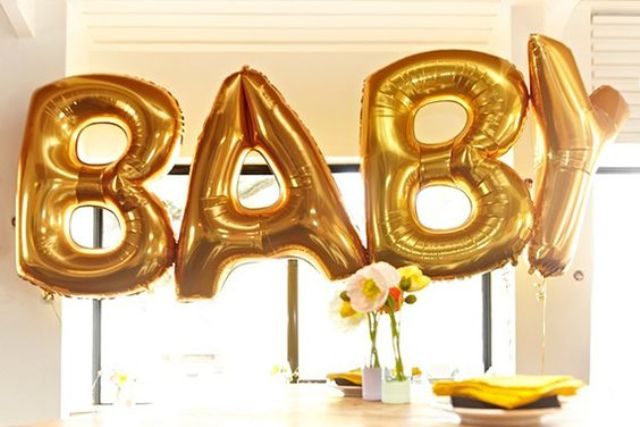 Picture Of cute balloon decor ideas for baby showers  3