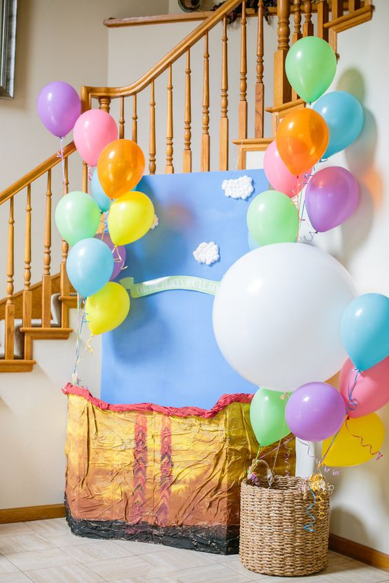 Picture Of cute balloon decor ideas for baby showers  36