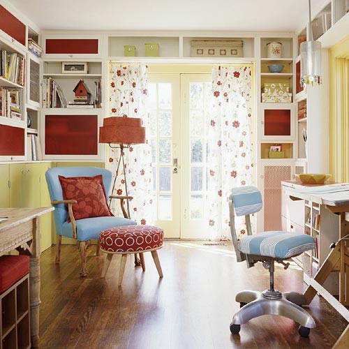 Cute Colorful Home Office