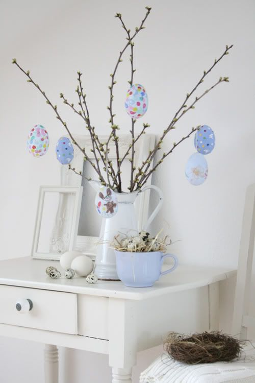 21 cute pastel easter d cor ideas to try digsdigs for Diy easter decorations home