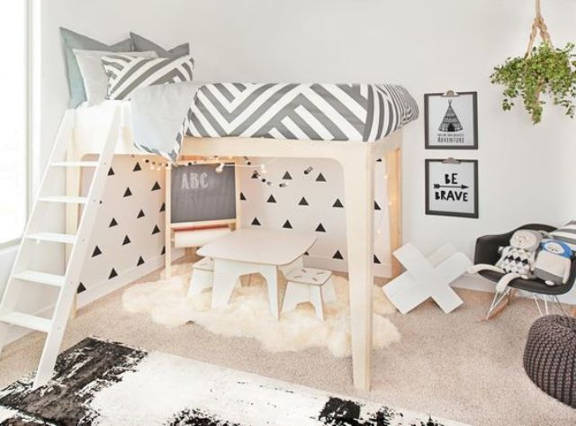 Picture Of cute mid century modern kids rooms decor ideas  11