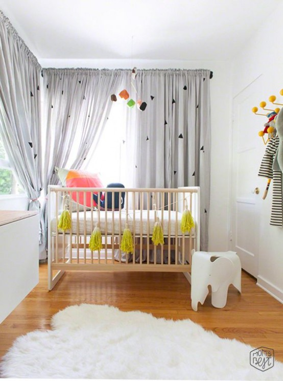 31 cute mid century modern kids rooms d cor ideas digsdigs for Modern nursery decor