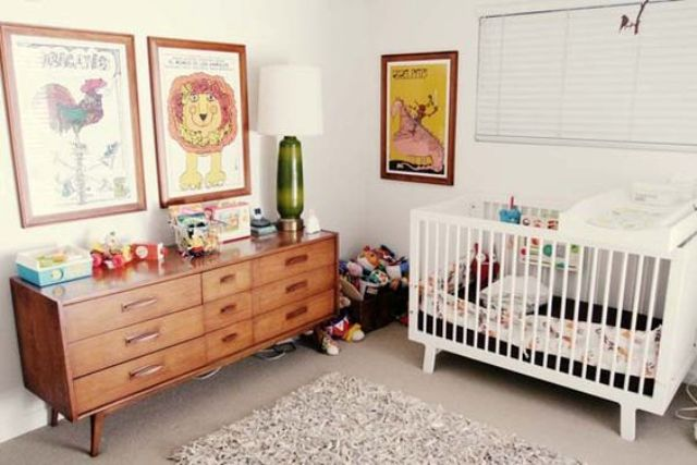 Picture Of cute mid century modern kids rooms decor ideas  17