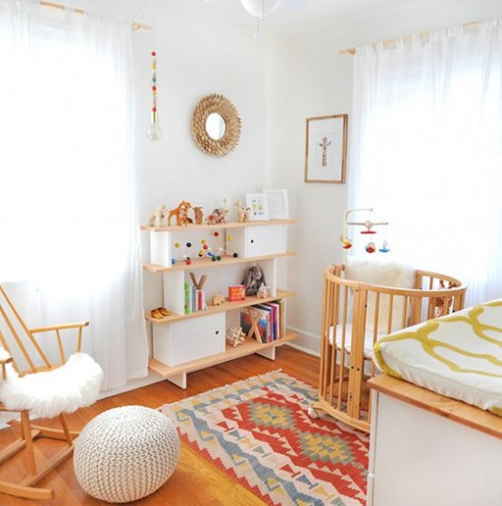 11 Cool Baby Nursery Design Ideas From Vertbaudet: 31 Cute Mid-Century Modern Kids' Rooms Décor Ideas