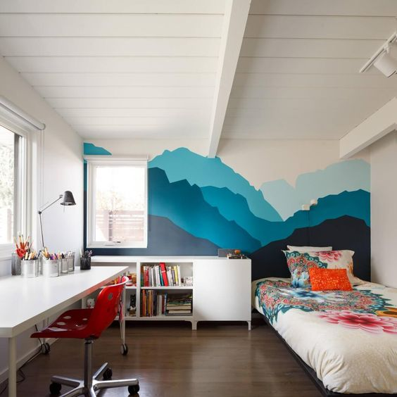 Picture Of cute mid century modern kids rooms decor ideas  5