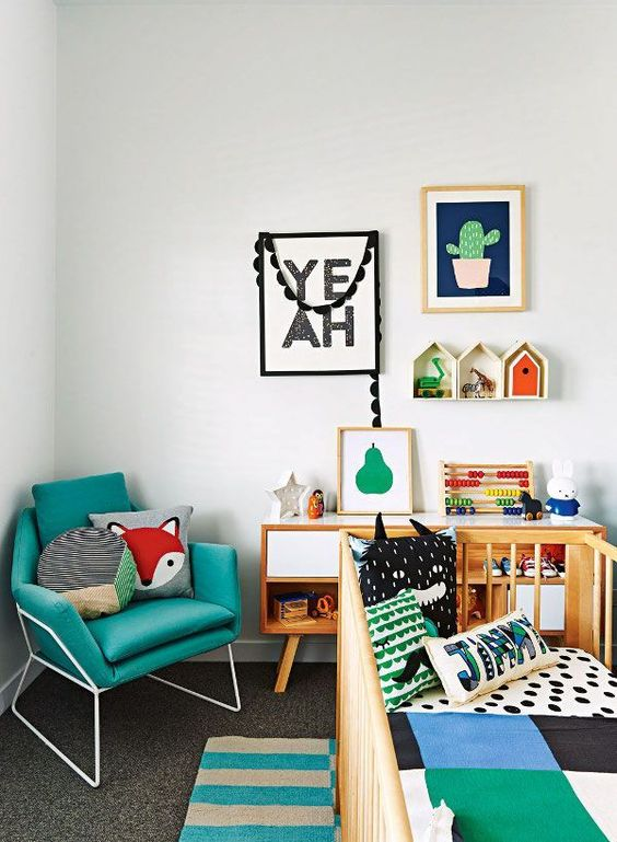 Picture Of cute mid century modern kids rooms decor ideas  7
