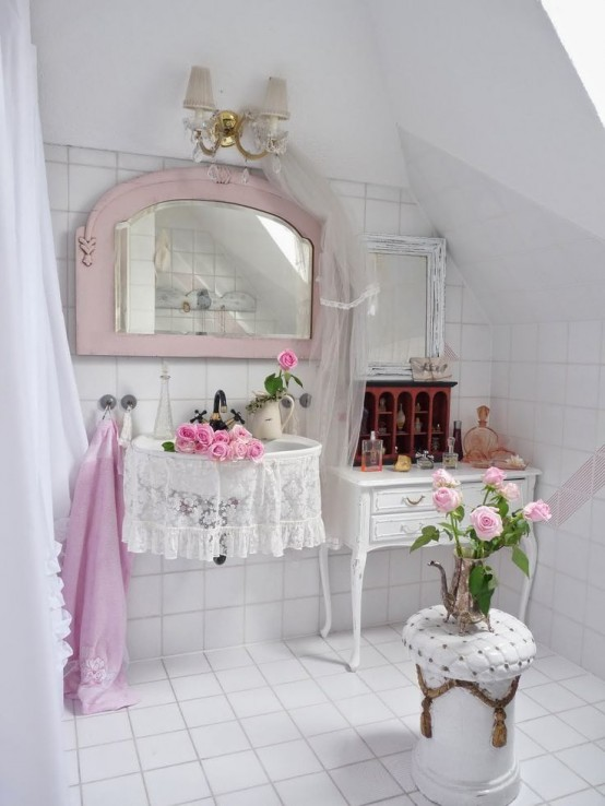 Cute Shabby Chic Bathroom Decor Ideas