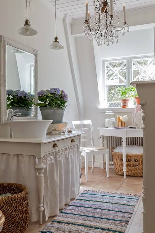 28 lovely and inspiring shabby chic bathroom d cor ideas - Salle de bain style shabby ...