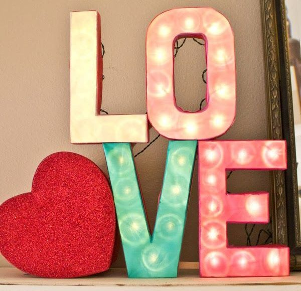 Picture Of cute valentines day marquee ideas for your home  1