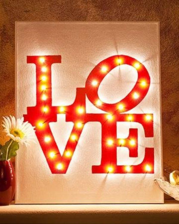 Picture Of cute valentines day marquee ideas for your home  20