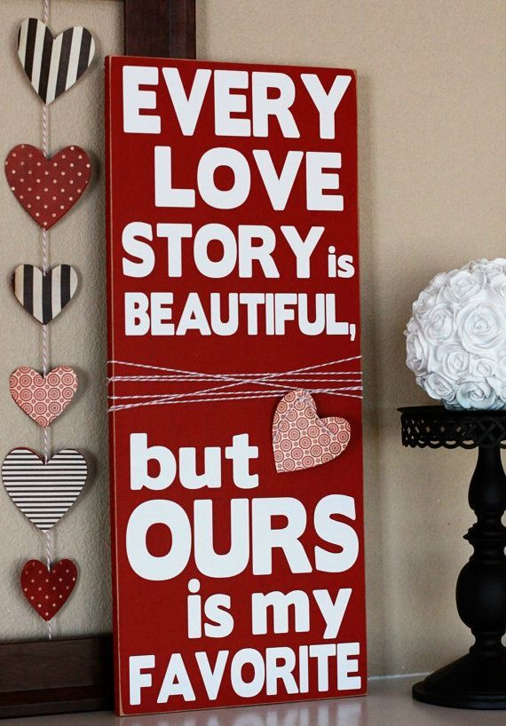 27 cute valentine s day signs for outdoors and indoors for Love decorations for the home