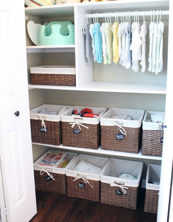 basket boxes are great to organize anything from toys to clothes and shoes