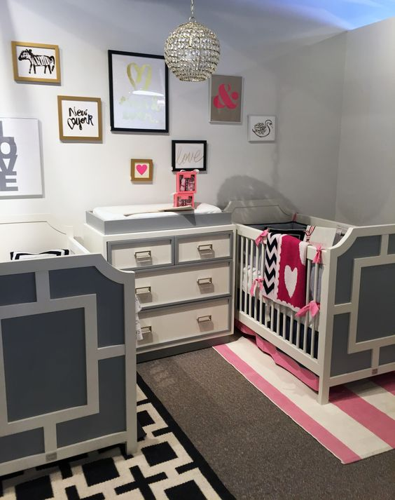 Toddler Girl Room Interior Design: 30 Cutest Shared Nurseries For Boys And Girls