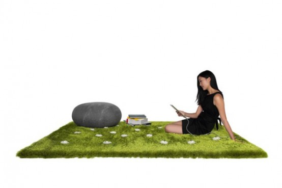 Daisy Garden Interactive Rug To Summon Spring Outdoors