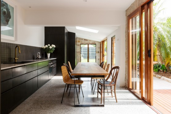 Daring Bronte House With Lots Of Black In Decor