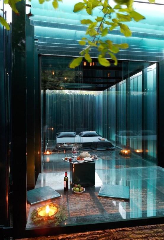 Charming Daring Glass Bedroom Design Ideas
