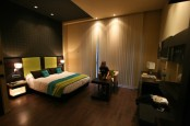 Dark And Moody Hotel Room