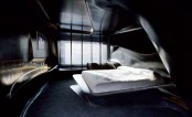 Dark Futuristic Hotel Style Bedroom