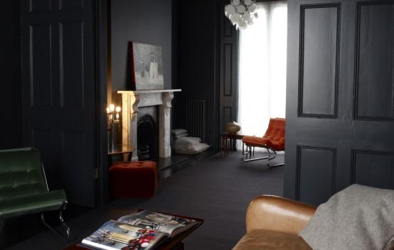 Dream Home For Fans Of Dark Interiors