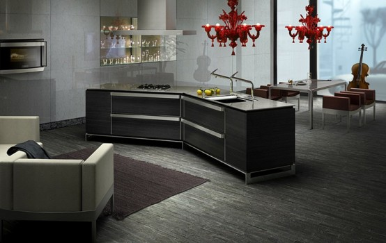 collection is perfect for dark kitchen designs with a lot of metallic