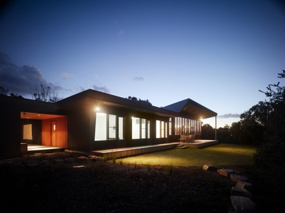 Low Maintenance Home With Dark Exterior