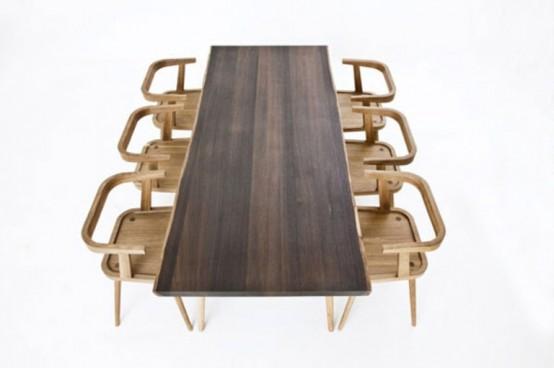 Dark Natural Wood Kitchen Collection