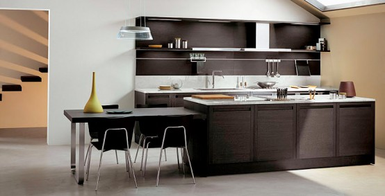 dark oak wood kitchen terra