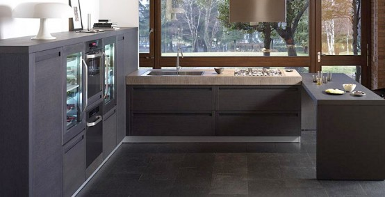 Dark oak kitchen from Terra collection