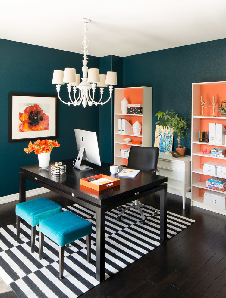 dd color onto the backs of white bookcases is an easy DIY project that rocks