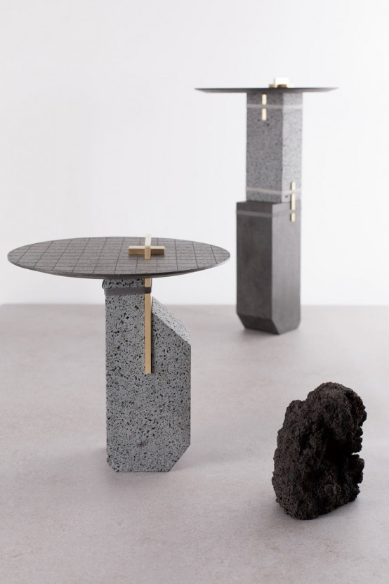 De Natura Fossilium Furniture Collection Of Cooled Lava