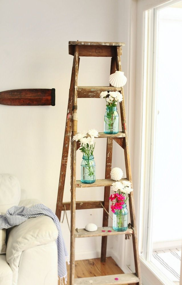 36 d cor ideas with ladders vintage charm with space
