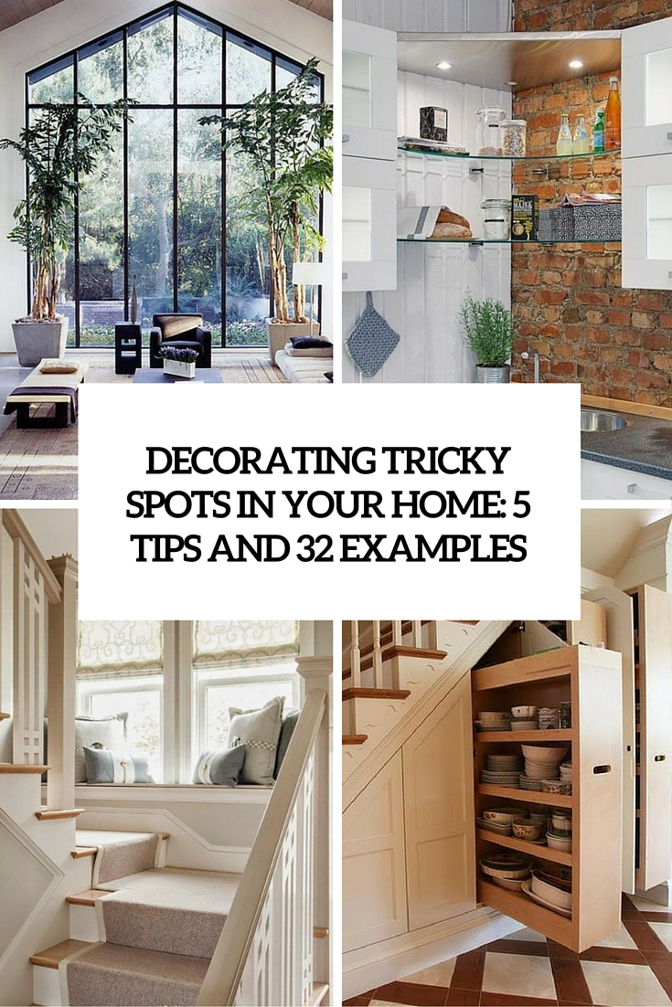unique home decor ideas for all these tricky spots 5 tips and 32 examples - Unique Home Decor