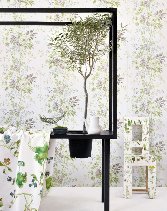 Decorating With Botanical Wallpaper Beautiful Ideas
