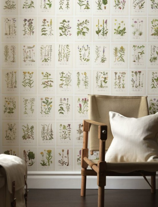 Wall Decor Tapet : Decorating with botanical wallpaper beautiful ideas