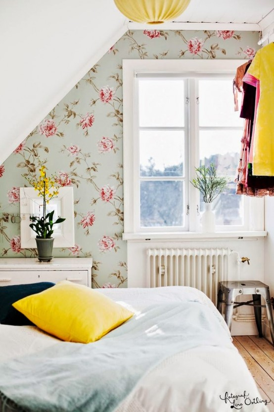 decorating with botanical wallpaper beautiful ideas - Floral Wallpaper Bedroom Ideas