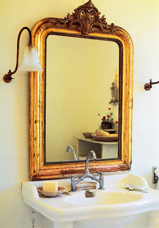 Fresh Decorating With Golden Mirrors