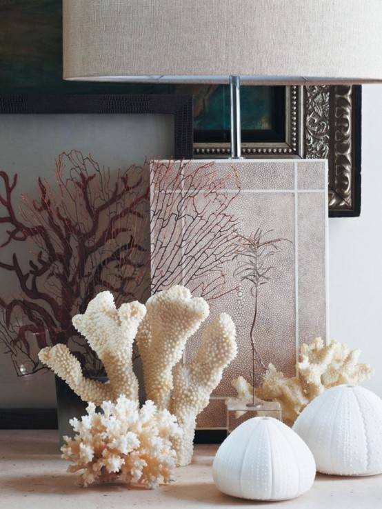 Decorating With Sea Corals: 34 Stylish Ideas - DigsDigs