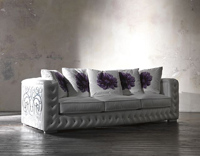 Classic Italian Furniture with Curved Decorations – White Titania by ...